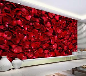 3D Red pink Petals 9526 Floor Wall Paper Murals Wall Print AJ WALLPAPER UK Lemon