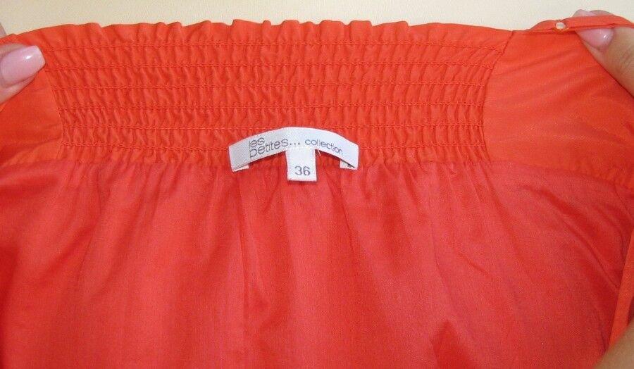 LES PETITES - -KLEID HOSENTRÄGER WEIBLICH BAUMWOLLE & SEIDE orange orange orange T 38 -ALS NEU 03a91a