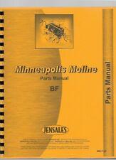 Minneapolis Moline Bf Tractor Parts Manual Catalog Avery R