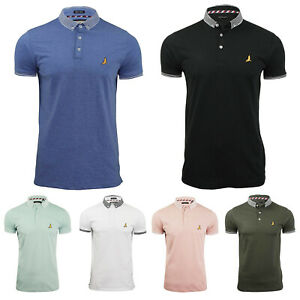 New-Mens-Brave-Soul-Polo-Causal-Plain-Slim-Fit-Short-Sleeve-T-Shirts-Top-S-M-L