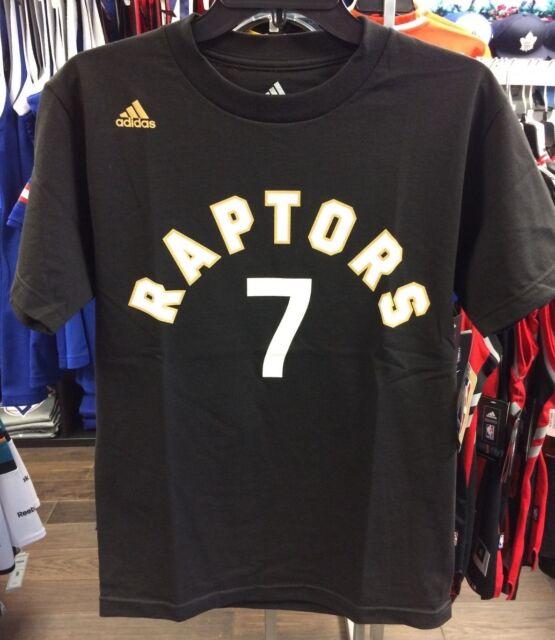 NBA Toronto Raptors Kyle Lowry Adidas Black Gold Name Number Go T Shirt XX-Large