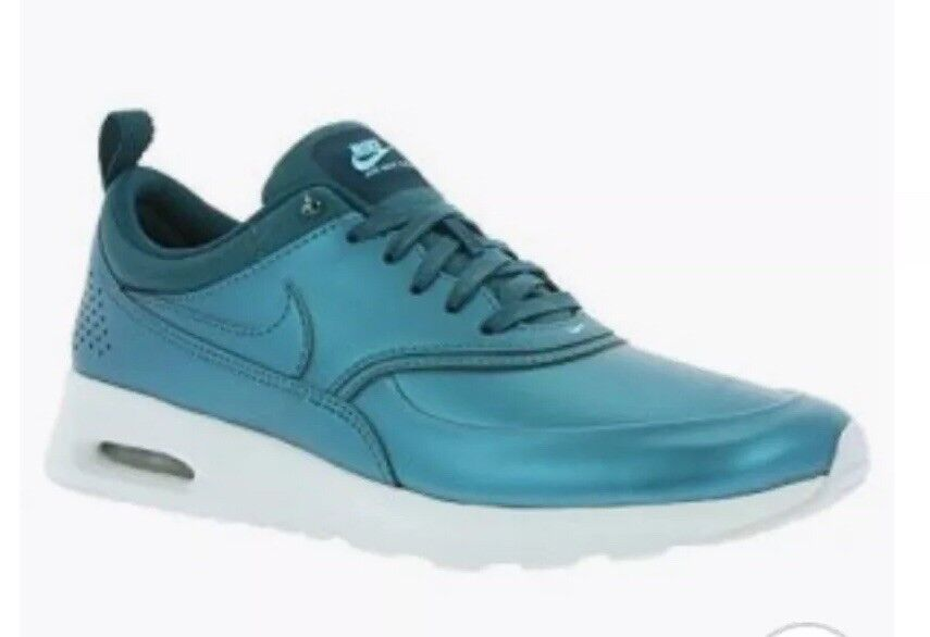 WOMEN'S NIKE AIR MAX 861674_901 THEA SE METALLIC DARK SEA size5 Comfortable and good-looking