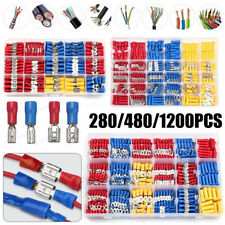 4801200pcs Insulated Electrical Wire Splice Terminal Spadecrimpring Connector