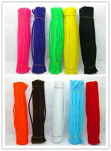 1000-Chenille-Stems-Craft-Pipe-cleaners-30cm-Long-mixed-color