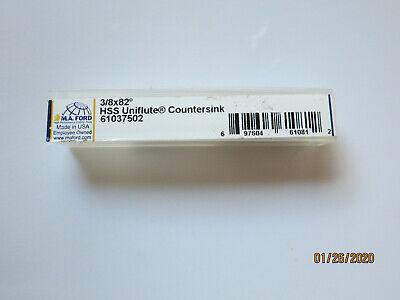 "SEVERANCE 5//8/""-SF-30 Single Flute 3//8/"" shank Countersink HSS C/'Sink 60DEG #00277"