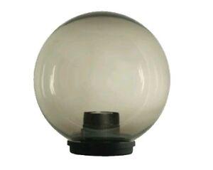 Ricambio globo sfera palla per lampioni da giardino fume acrilico