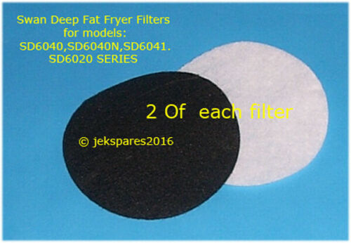 SD6040,SD6040N,SD6041.SD6020 SERIES *2 of each Swan Deep Fat Fryer Filters for