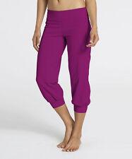 $80 Zobha Activewear Cargo Capri Bright Magenta Leggings Dance Relax Pants  - 4