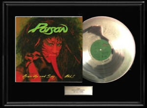 POISON-OPEN-UP-AND-SAY-AHH-WHITE-GOLD-SILVER-PLATINUM-TONE-RECORD-LP-ALBUM-RARE