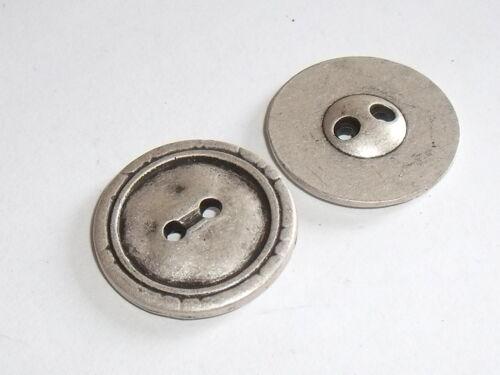 8 Stück Metallknöpfe Knopf Knöpfe  23 mm altsilber NEUWARE rostfrei #932.2#