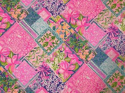 1 Yard BTY Lilly Pulitzer Cotton Dobby Fabric Multi Pina Colada Club