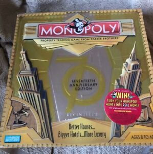 Image Is Loading Parker Brothers Monopoly Game 70th Anniversary Edition Board