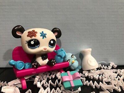 figurine PETSHOP original PANDA paillette glitter 2225 pet shop  lps