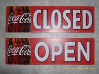 Coca-cola Open/closed Window & Menu Board Reversible Sign