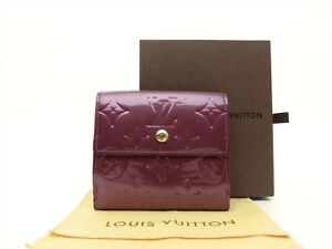 b4ec95d16442 Image is loading Louis-Vuitton-Authentic-Monogram-VERNIS-Violette-Trifold- Purse-