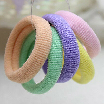 50pcs Colorful Baby Girls Kids Elastic Hair Ties Bands Rope Ponytail Holder