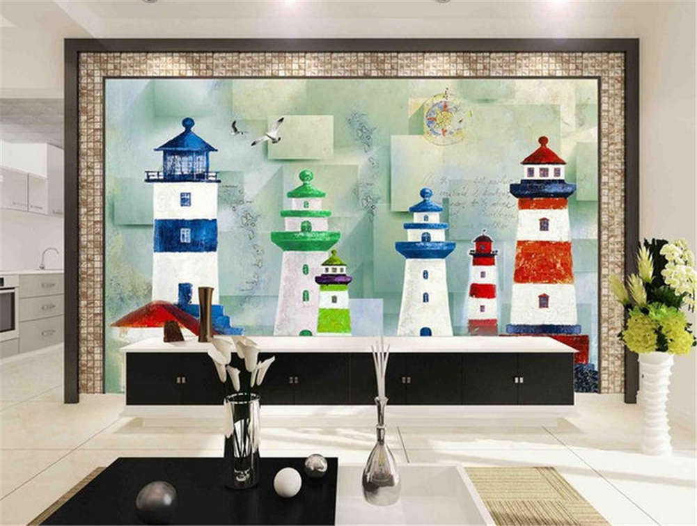 Unique Small Tower 3D Full Wall Mural Photo Wallpaper Printing Home Kids Decor
