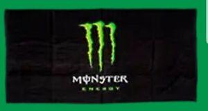 HUGE-Monster-Energy-Athlete-Beach-Towel-Large-64-034-x32-034-NEW-RARE-VAULT