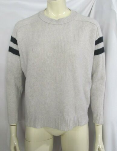 J CREW COLLECTION Italian Cashmere Varsity Stripe
