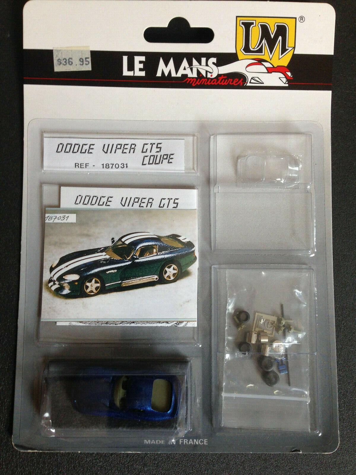 Dodge Viper GTS le mans miniatures Lemans 1 87 nuevo en OVP New 187031
