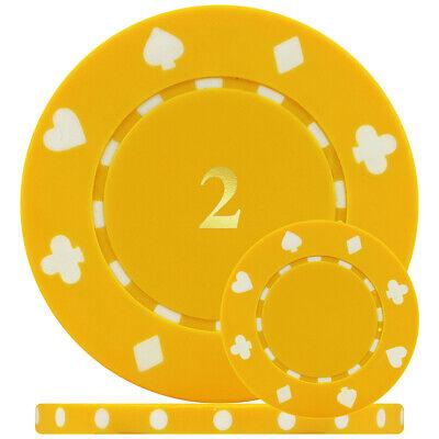 25 13.5 Gram Plastic Numbered Casino Poker Chip Rolls