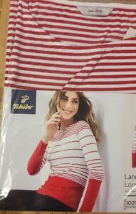 Original kaufen erstklassiger Profi 100% hohe Qualität Details zu Tchibo/ TCM Damen Langarmshirt Rot/ Weiss Gr L 44/46 Neu