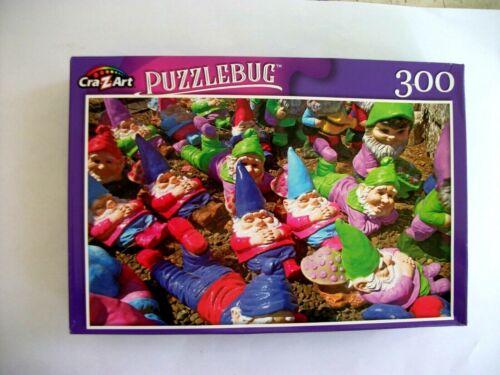 Resting Garden Gnomes New Puzzlebug 300  Piece Jigsaw Puzzle