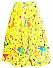 "NOS VTG K-Factory Japan Runway Designer Ikeda Button-Front Print Skirt 25""W 31""L"