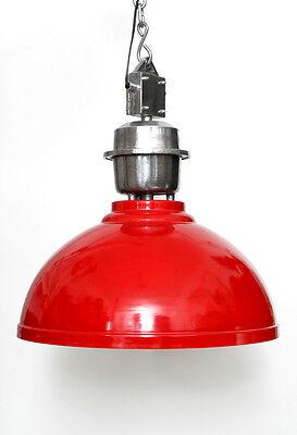 Pendel Industrie Leuchte Rot Lampe Aus Metall Vintage Retro Fabrik Loft Harmonische Farben Deckenleuchten