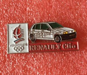 Pins-Voiture-RENAULT-CLIO-J-O-ALBERTVILLE-92-Jeux-Olympique-Olympia-Games