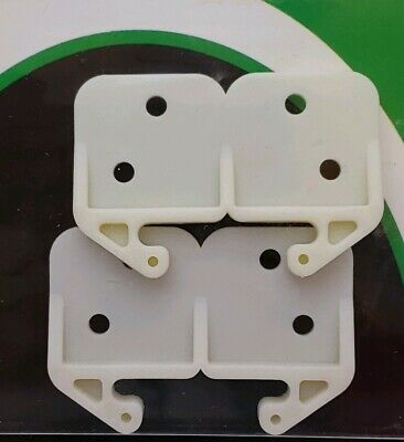 1-1//8 Inch Slide-Co 22495 Drawer Track Guide /& Glides Green Plastic