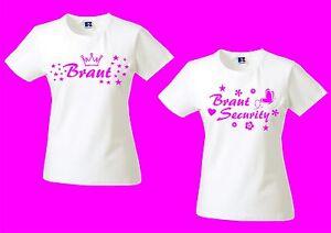 7819d675f5eb5 Das Bild wird geladen JGA-Junggesellinnenabschied-Damen-Shirt-Lady-Shirt -Braut-Security-