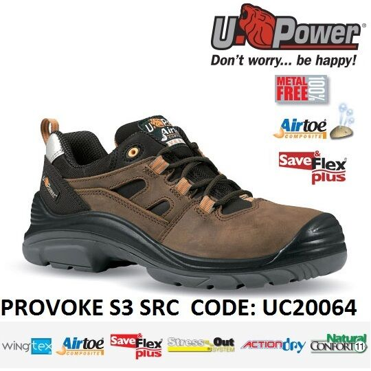 negozio online UPOWER UPOWER UPOWER SCARPE LAVoro ANTINFORTUNISTICA PROVOKE S3 SRC U-POWER UC20064 -  vendite dirette della fabbrica
