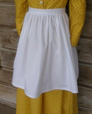 Girl or Ladies Prairie cotton Pioneer apron or/& bonnet pick size & color