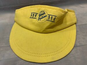 EXERCISE-YOUR-OPTION-Vintage-Yellow-Visor-Adult-Cap-Hat