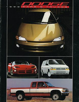 1993 Dodge 24-page Sales Brochure Viper Ram Dakota Truck Stealth Daytona