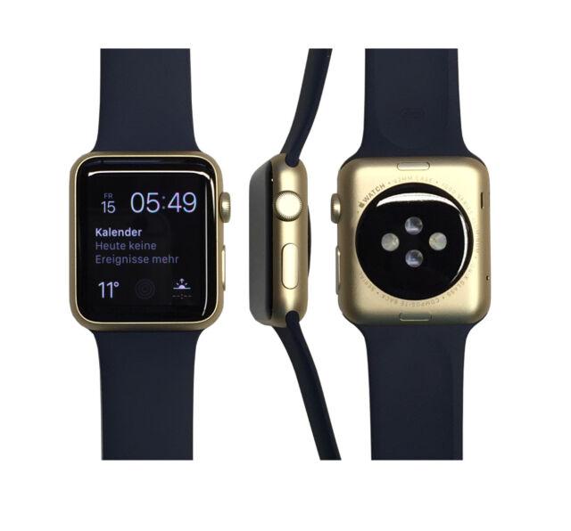 Apple Watch Sport 42mm in Gold/Mitternachtsblau vom Händler MLC72FD/A