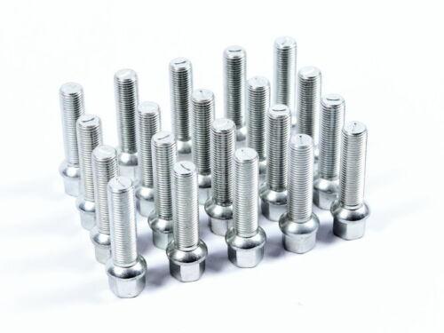 20 pernos radschraube tornillo bala federal panoramicas m12x1,5-60mm de longitud de la rosca
