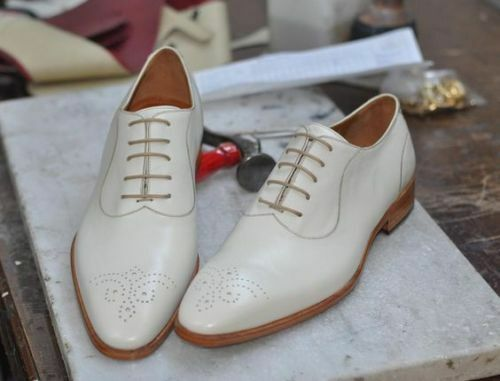 MEN HANDMADE WEISS WINGTIP BROGUE Schuhe MEN BROGUE FORMAL Schuhe MENS DRESS Schuhe