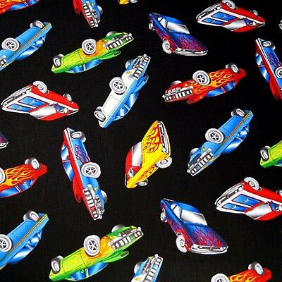 American Muscle Custom Paint Job Cars Hotrods 100% Cotton Fabric