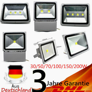30/50/70/100/150/200W LED Lampe Floodlight Projecteur Extérieur Blanc IP65
