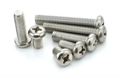 10pcs Stainless Steel Phillips Screws Round Pan Head 304 Machine