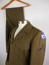 U.S. WWII Army Uniform Ike Eisenhower Jacket 38R Alaskan Department Patches Pant