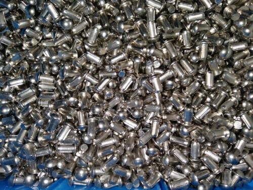 50 Stück Stahlnieten Halbrundkopf DIN660 4x6 mm Vollnieten Kerbnieten Nieten