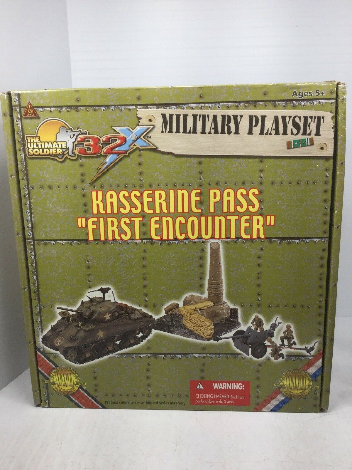 1 32 Ultimate Soldier Kasserine Pass  First Encounter US allehommed Playset WW2 NOOB  marque