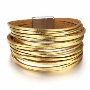 Leather Bangle Bracelet Silver and Leather Bracelet Wrap Bracelet Faux Wrap Bracelet Leather Bracelet Multi-strand Bracelet