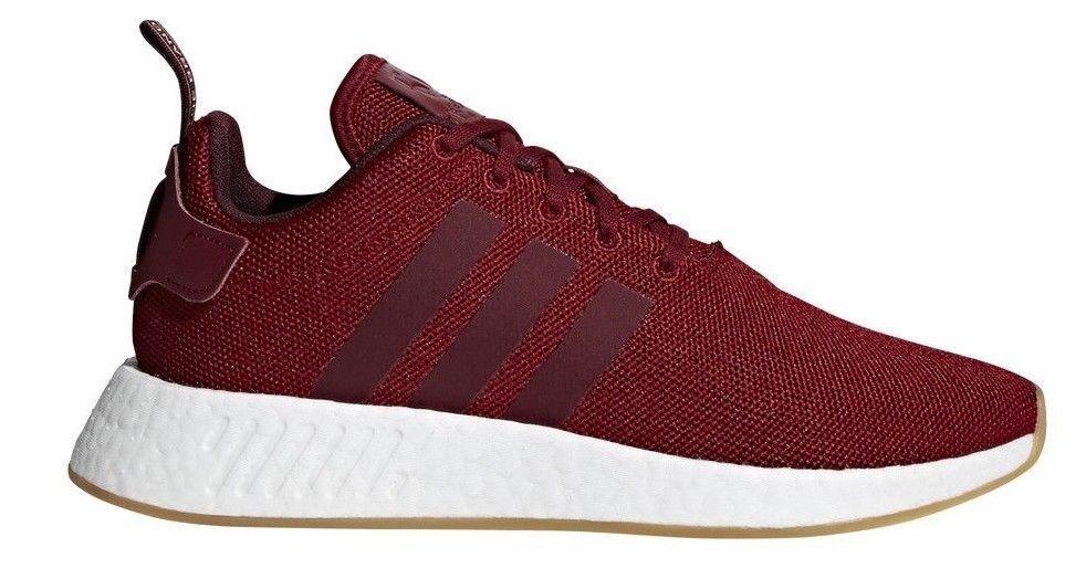 Men's Adidas NMD R2 Casual shoes Burgundy   Maroon   Chalk Coral Sz 11 CQ2404