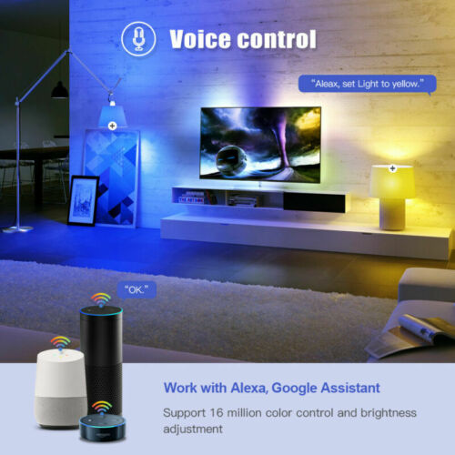 Wifi Smart LED light Bulb E27 Dimmable For Alexa Google Home Remote Control