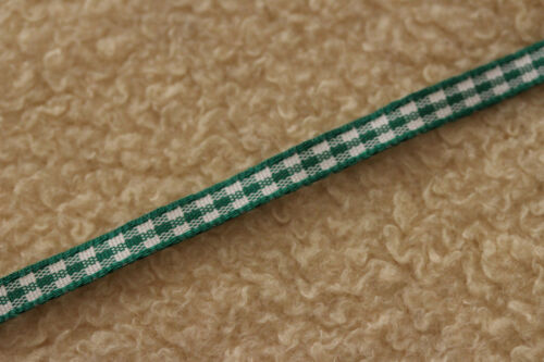 20 Metres Berisfords 5mm Gingham Ribbon Small Check 7391 VARIOUS COLOURS 20m