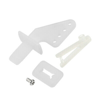27x20mm Plastic Horns with 4 Holes 1.4mm for RC Airplane Parts White 10 Sets uxcell Control Horn